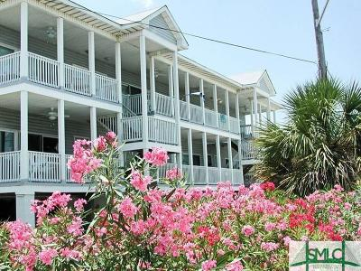 Tybee Island Condo/Townhouse For Sale: 5 17th Place #3-B