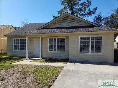 Savannah GA Single Family Home Active Contingent: $144,750