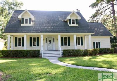 Wilmington Island Single Family Home For Sale: 1 E Gazebo Lane