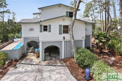 Tybee Island Single Family Home For Sale: 117 Eagles Nest Drive