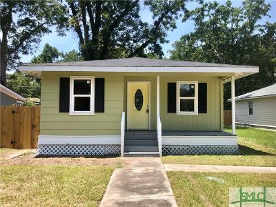 Savannah GA Single Family Home For Sale: $108,000