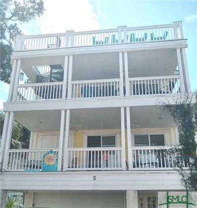 Tybee Island GA Single Family Home For Sale: $725,000