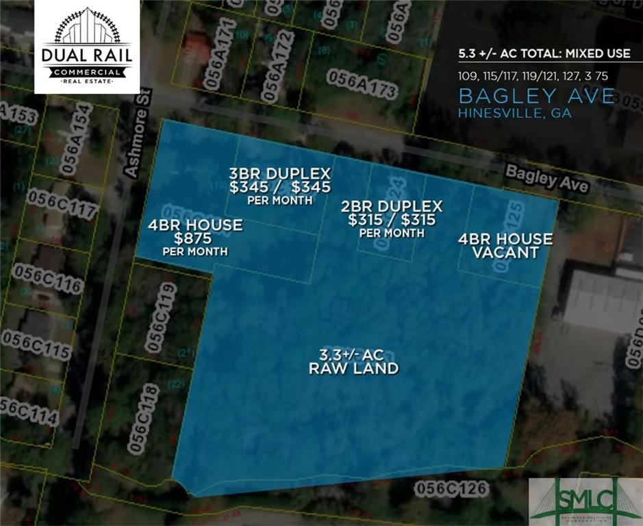 109, 115-117, 119-121,127 Bagley, Hinesville, GA, 31313, Hinesville Home For Sale