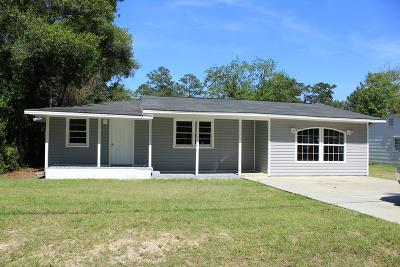 Waycross GA Single Family Home For Sale: $64,000