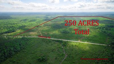 Waycross Residential Lots & Land For Sale: Fire Tower Rd. 250+/- Ac