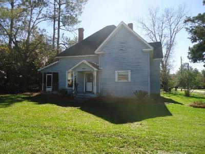 Ocilla, Irwinville, Chula, Wray , Abbeville, Fitzgerald, Mystic, Ashburn, Sycamore, Rebecca Single Family Home For Sale: 208 W 1st Street