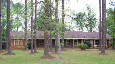 Brookfield, Chula, Tifton, Irwinville, Omega, Poulan, Sycamore, Sumner, Ty Ty, Ashburn, Rebecca Single Family Home For Sale: 5 Jacob Hall Road