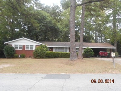 Valdosta GA Single Family Home For Sale: $124,900
