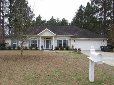 Berrien County, Brooks County, Cook County, Lanier County, Lowndes County Single Family Home For Sale: 3806 Chris Circle