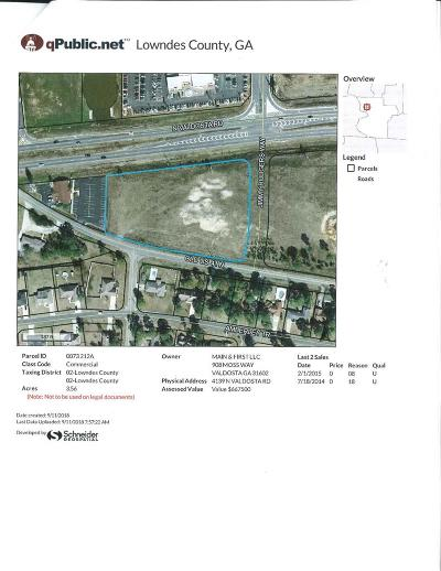 Commercial Lots & Land For Sale: 4139 North Valdosta Road
