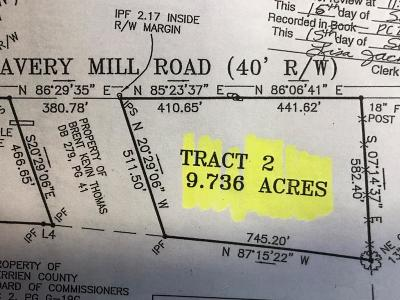 Berrien County Residential Lots & Land For Sale: Avery Mill Road