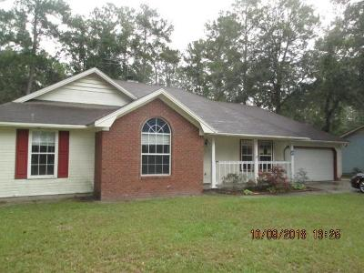 Berrien County, Brooks County, Cook County, Lanier County, Lowndes County Single Family Home For Sale: 2811 Clayton Drive