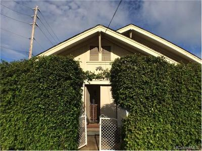 Honolulu Single Family Home In Escrow Showing: 1804 Lusitana Street