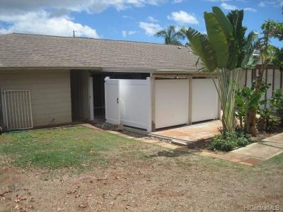 Pearl City Single Family Home In Escrow Showing: 1340 Hooli Circle #A