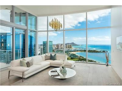 Hawaii County, Honolulu County Condo/Townhouse In Escrow Showing: 1118 Ala Moana Boulevard #PH 3402