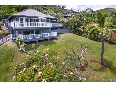 Kailua HI Single Family Home For Sale: $2,495,000