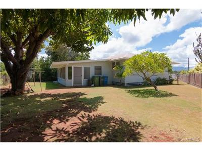 Pearl City Single Family Home In Escrow Showing: 1371 Hookano Street