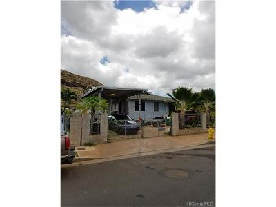 Waianae HI Single Family Home For Sale: $289,000