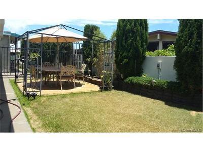 Aiea Single Family Home In Escrow Showing: 98-562 Kaimu Street