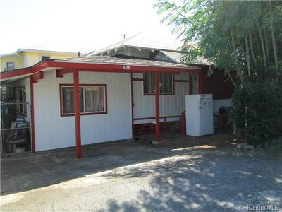 Honolulu Single Family Home For Sale: 1825 Fernandez Street