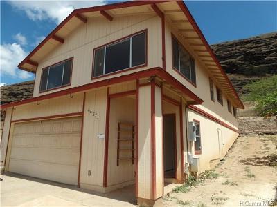 Single Family Home For Sale: 86-171 Leihoku Street