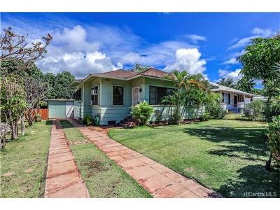 Honolulu HI Single Family Home For Sale: $1,100,000