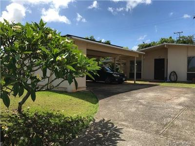 Pearl City Single Family Home For Sale: 1952 Hoohai Street