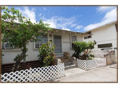 Honolulu Single Family Home For Sale: 3121 Castle Street