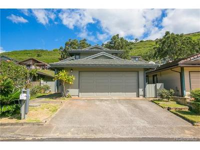 Aiea Single Family Home In Escrow Showing: 98-178 Lania Way