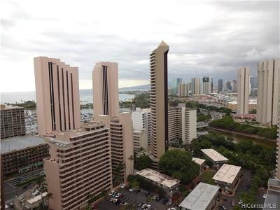 Hawaii County, Honolulu County Rental For Rent: 343 Hobron Lane #2901