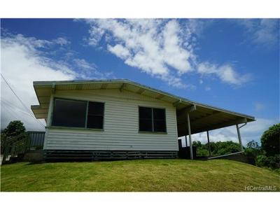 Single Family Home For Sale: 47-379 Ahuimanu Road