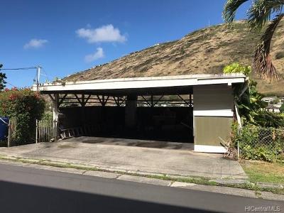Honolulu Single Family Home For Sale: 808 Kainoa Place