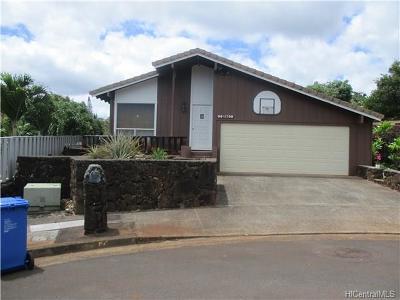 Aiea Single Family Home For Sale: 98-1708 Kiawe Street