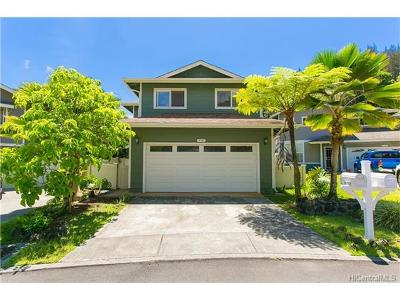 Mililani Single Family Home In Escrow Showing: 95-1302 Wikao Street #27