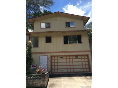 Pearl City Single Family Home In Escrow Showing: 2437 Akepa Street
