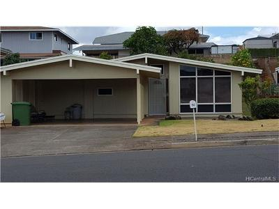 Pearl City Single Family Home In Escrow Showing: 752 Hoomoana Street