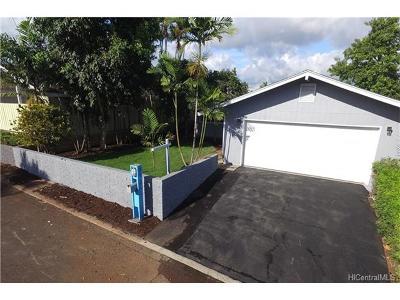 Mililani Single Family Home For Sale: 94-366 Kuanalio Way