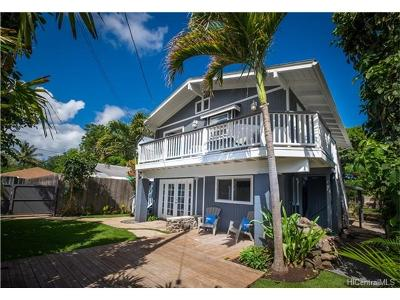 Haleiwa Single Family Home In Escrow Showing: 66-386 Haleiwa Road #2