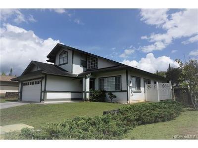 Mililani Single Family Home For Sale: 95-1017 Luaehu Street