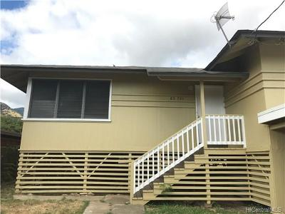 Waianae Single Family Home For Sale: 85-744 Piliuka Place