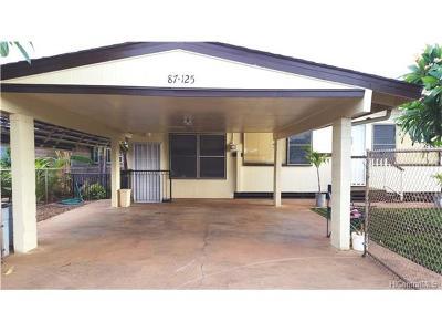 Waianae HI Single Family Home For Sale: $399,000
