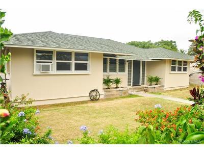 Honolulu, Kailua, Waimanalo, Honolulu, Kaneohe Single Family Home For Sale: 642 Maluniu Avenue
