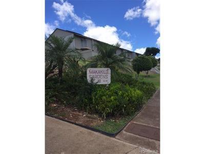 Kapolei Condo/Townhouse For Sale: 92-791 Makakilo Drive #E34