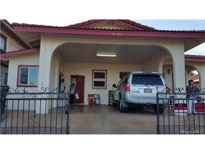 Waipahu Single Family Home In Escrow Showing: 94-816 Kuhaulua Street