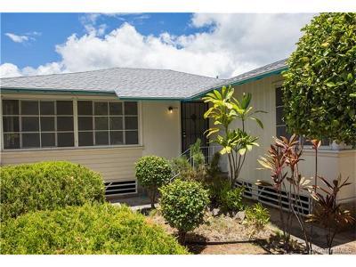 Honolulu Single Family Home For Sale: 1118 Kamaile Street