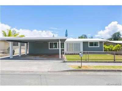Mililani Single Family Home In Escrow Showing: 95-257 Waiala Street