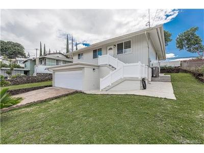 Pearl City Single Family Home In Escrow Showing: 1543 Makamua Street