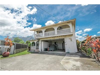 Kaneohe Single Family Home In Escrow Showing: 45-219 Kanai Place