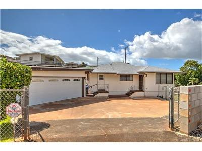 Aiea Single Family Home In Escrow Showing: 99-763a Kealaluina Drive