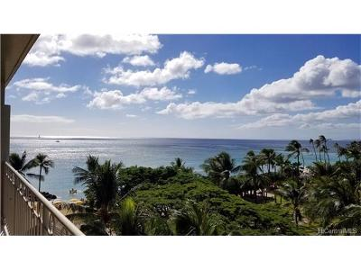 Hawaii County, Honolulu County Condo/Townhouse For Sale: 2161 Kalia Road #610